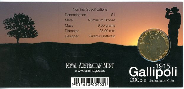 Thumbnail for 2005 Gallipoli - C Mintmark