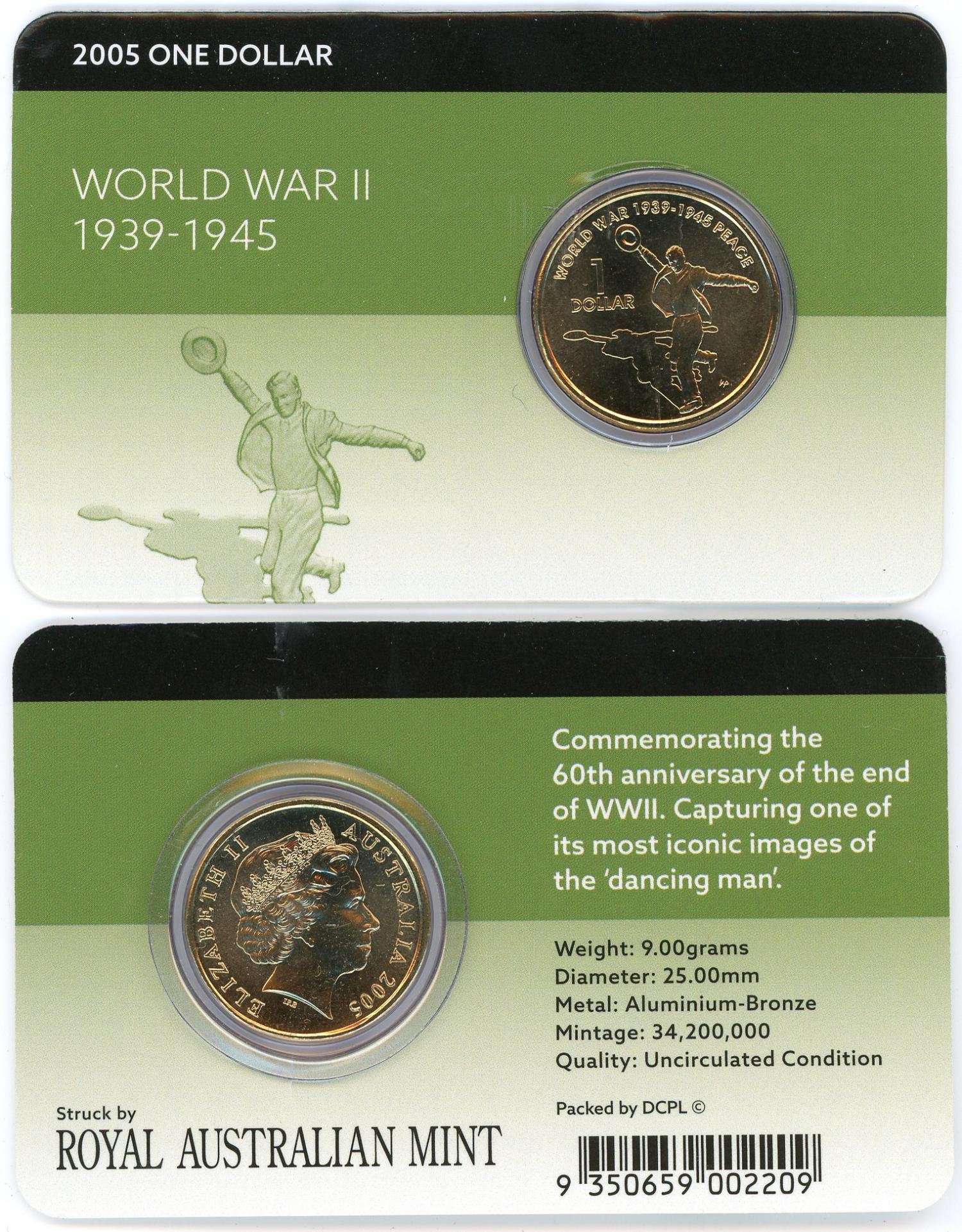 Thumbnail for 2005 $1 Commemorating 60th Anniversary of the End WWII
