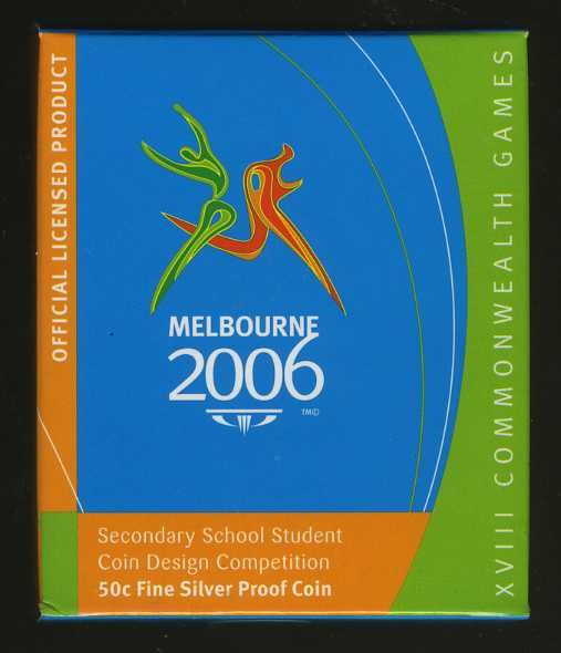 Thumbnail for 2006 Melbourne Commonwealth Games Fifty Cent Silver Proof