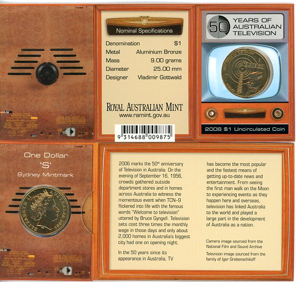 Thumbnail for 2006 TV Dollar S Mintmark