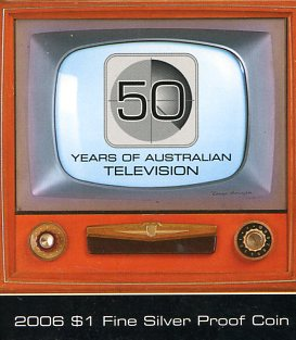 Thumbnail for 2006 $1 Fine Silver Proof Coin -50 Years of Australian Television