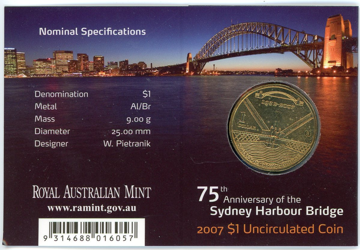 Thumbnail for 2007 75th Anniversary of the Sydney Harbour Bridge - B Mintmark