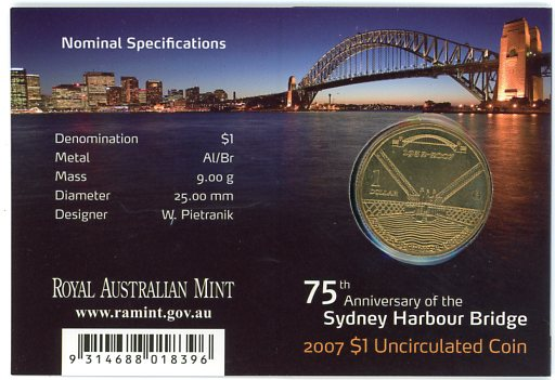Thumbnail for 2007 75th Anniversary of the Sydney Harbour Bridge - C Mintmark
