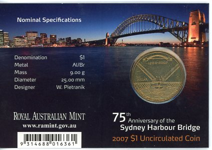Thumbnail for 2007 75th Anniversary of the Sydney Harbour Bridge - M Mintmark