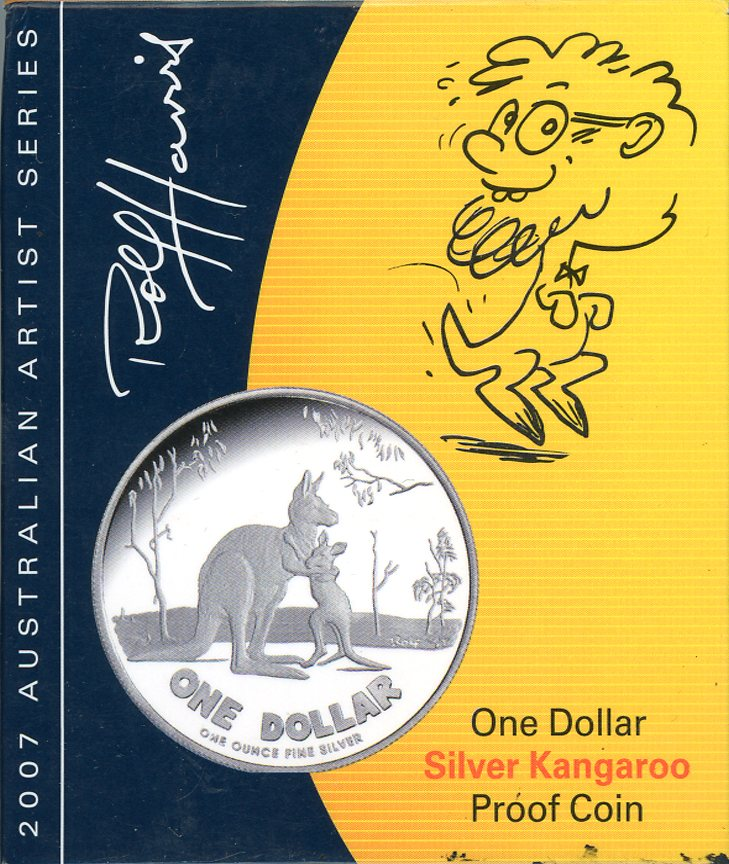 Thumbnail for 2007 $1 Silver Kangaroo Proof Coin - Rolf Harris