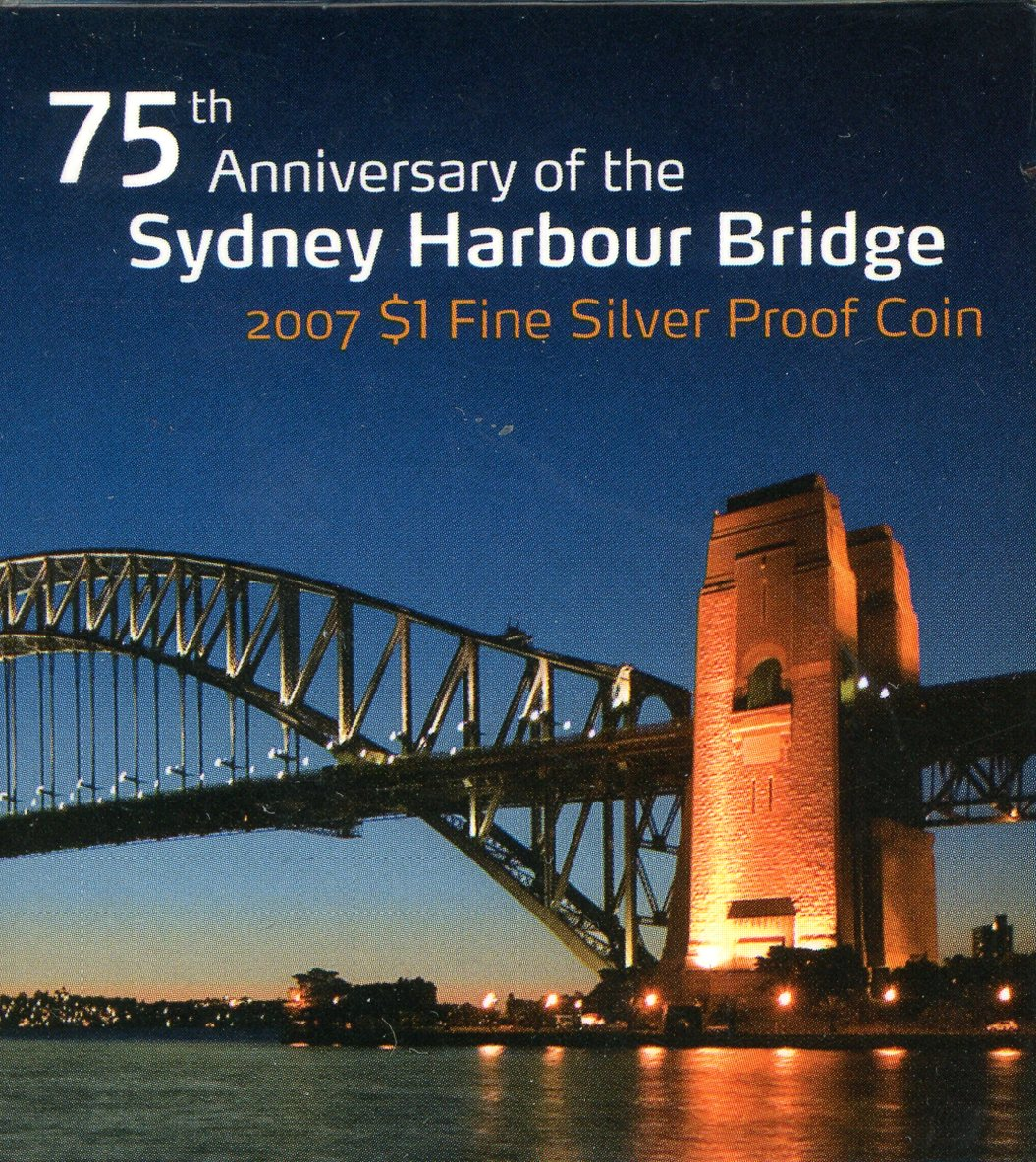 Thumbnail for 2007 $1 Silver Proof - 75th Anniversary of the Sydney Harbour Bridge