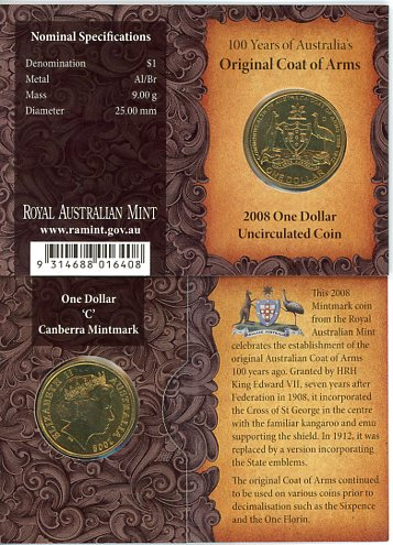 Thumbnail for 2008 Coat of Arms C Mintmark
