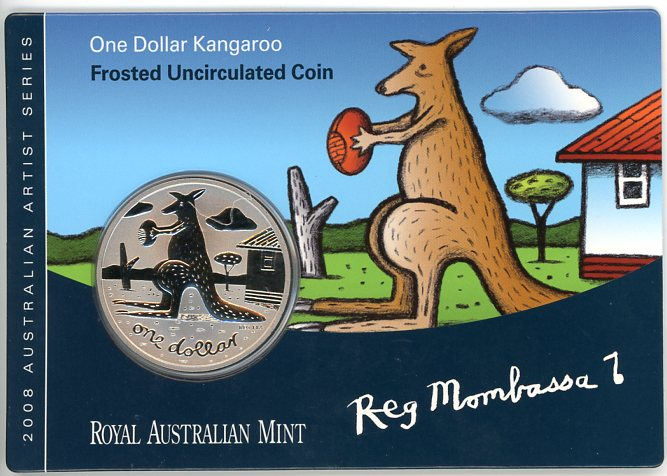 Thumbnail for 2008 Frosted Uncirculated One Dollar - Reg Mombassa