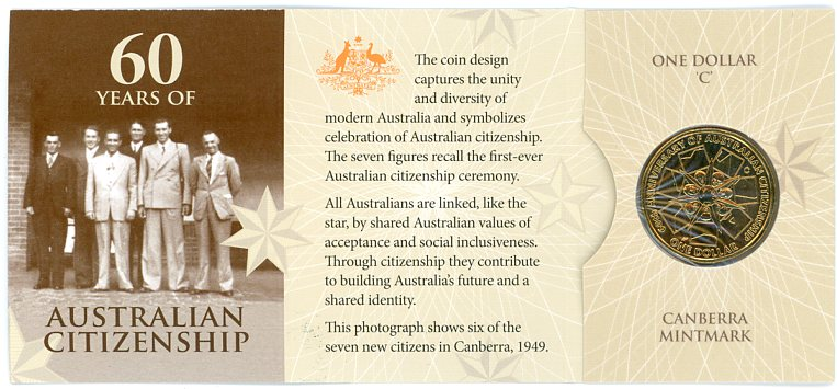 Thumbnail for 2009 60 Years of Australian Citizenship - C Mintmark