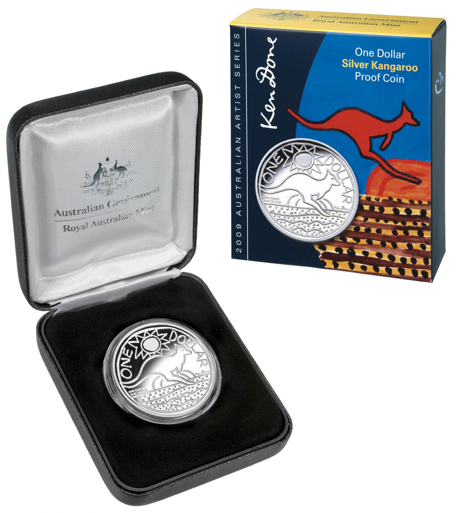 Thumbnail for 2009 1oz Silver Kangaroo Proof Coin - Ken Done