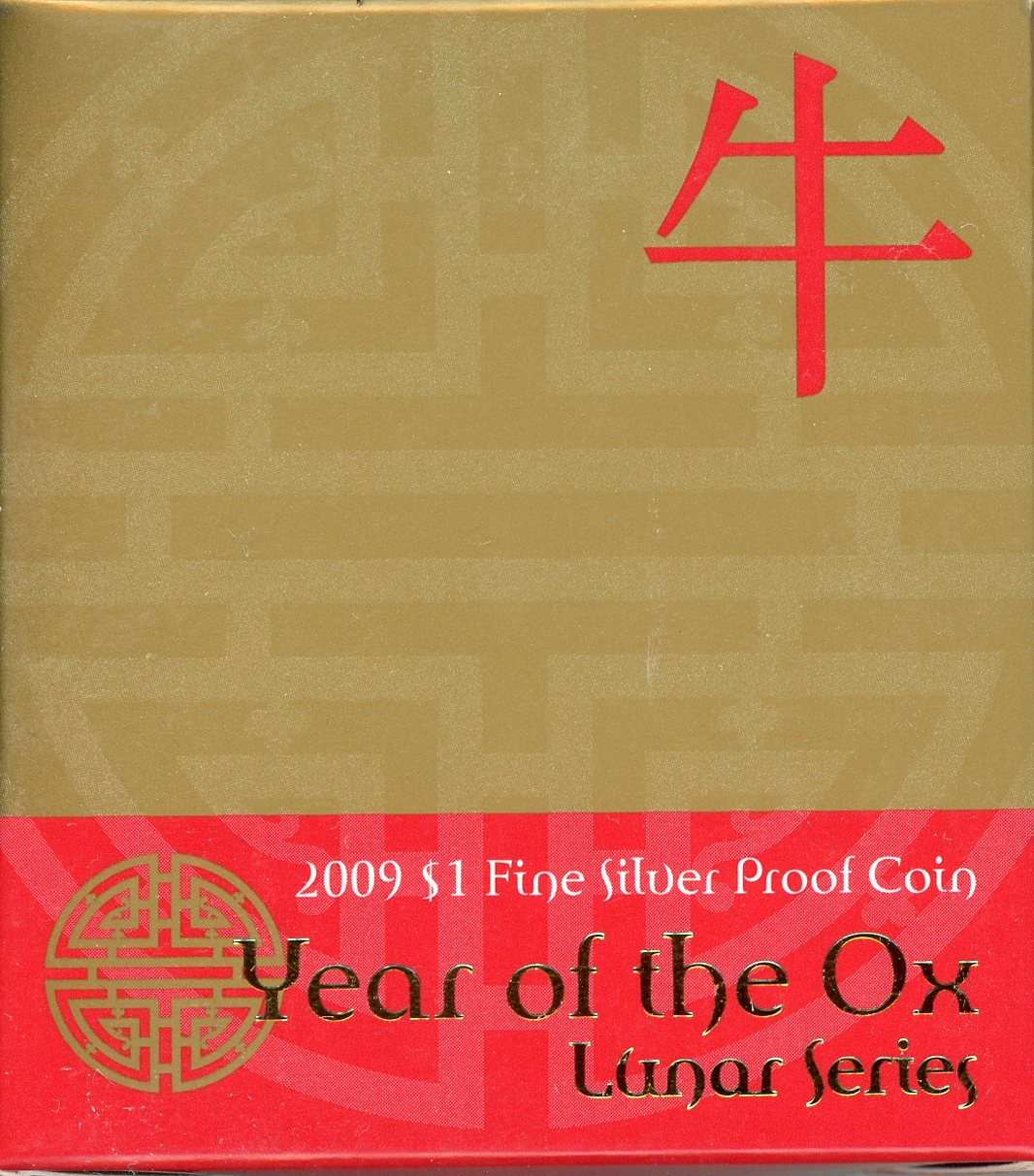 Thumbnail for 2009 $1 Fine Silver Proof Coin - Year of the Ox
