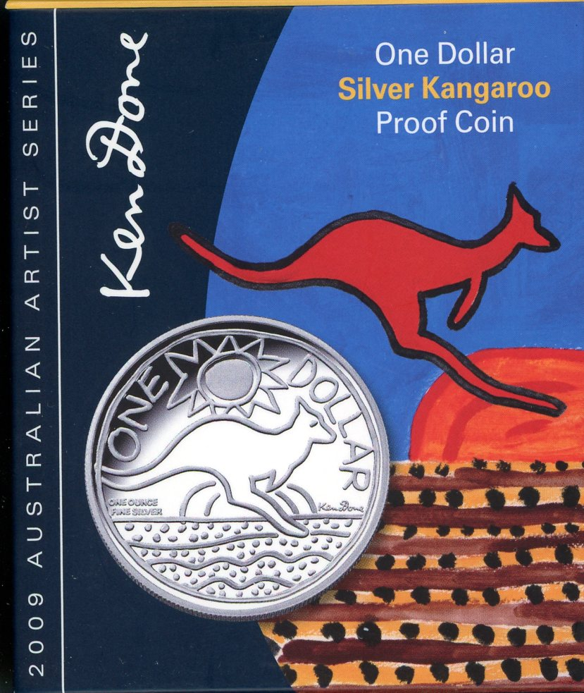 Thumbnail for 2009 $1 Kangaroo 1oz Silver Proof Coin - Ken Done