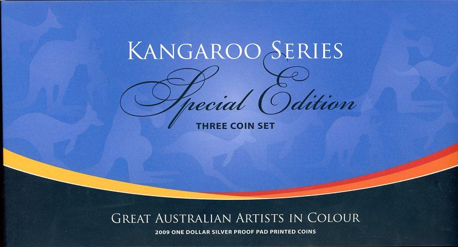 Thumbnail for 2009 $1 Kangaroo Silver Proof Three Coin Set - Great Australian Artists