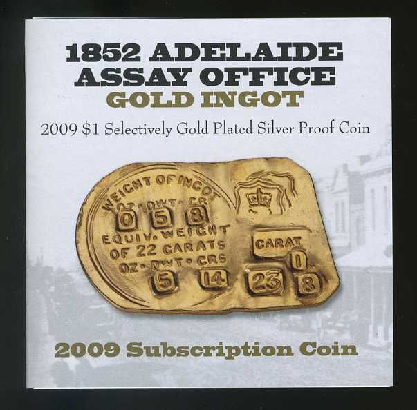 Thumbnail for 2009 Selectively Gold Plated Subscription Dollar - Adelaide Assay Office