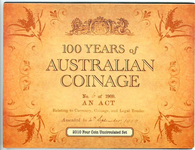 Thumbnail for 2010 100 Years of Australian Coinage - 4 Coin Set CBMS