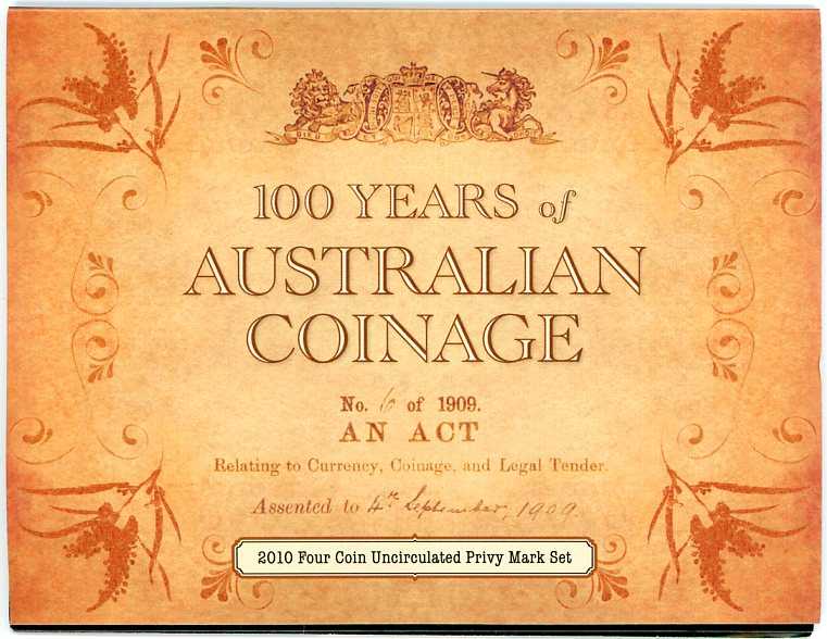 Thumbnail for 2010 100 Years of Australian Coinage - 4 Coin Set ADHP
