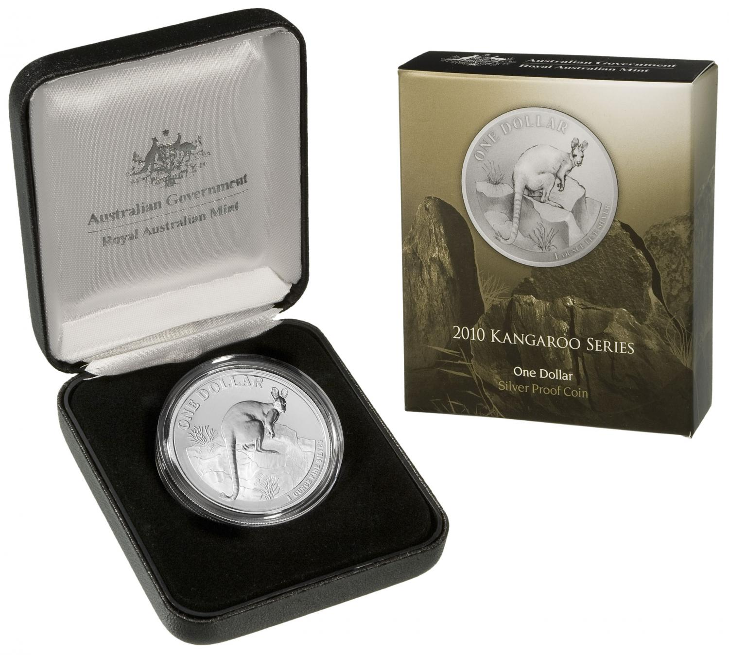 Thumbnail for 2010 1oz Silver Kangaroo Proof Coin - Yellow Footed Rock Wallaby