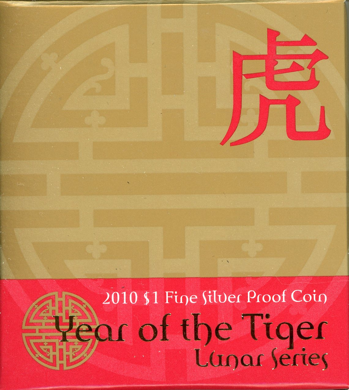 Thumbnail for 2010 Lunar Series - Year of the Tiger $1 Silver Proof Coin