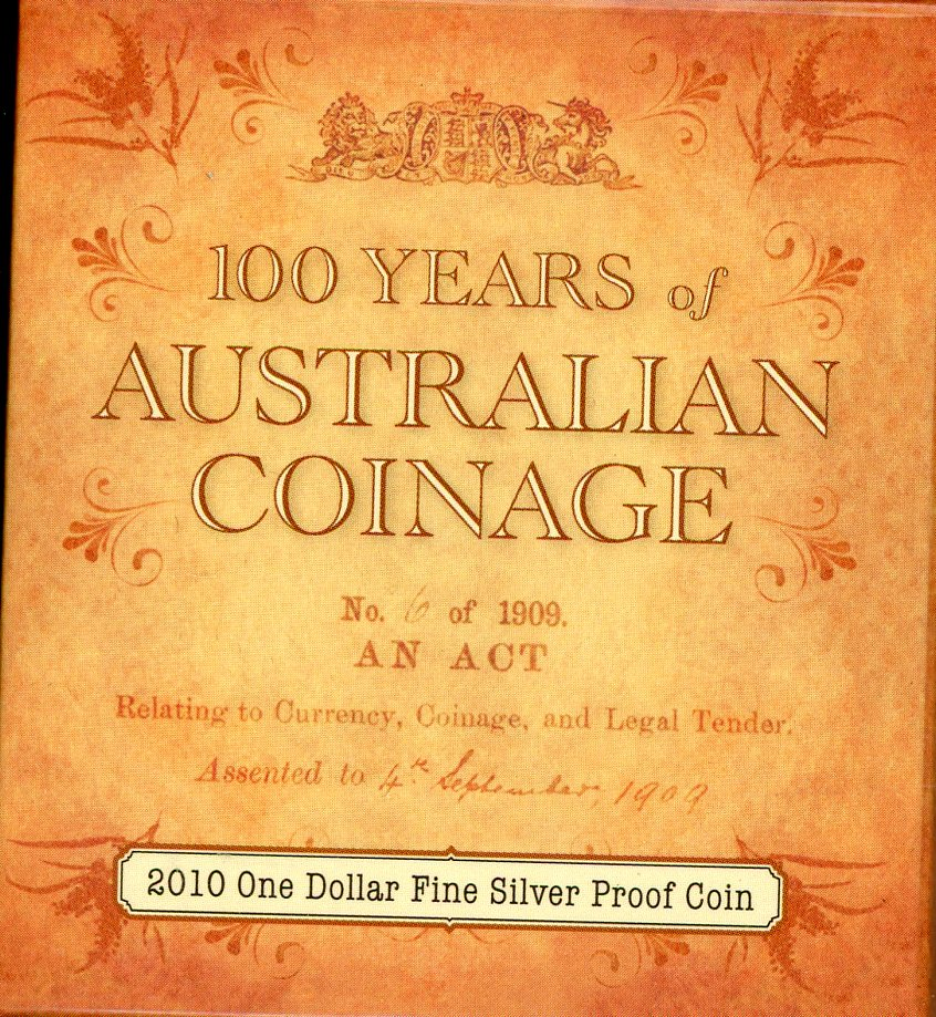 Thumbnail for 2010 $1 Fine Silver Proof Coin - 100 Years of Australian Coinage
