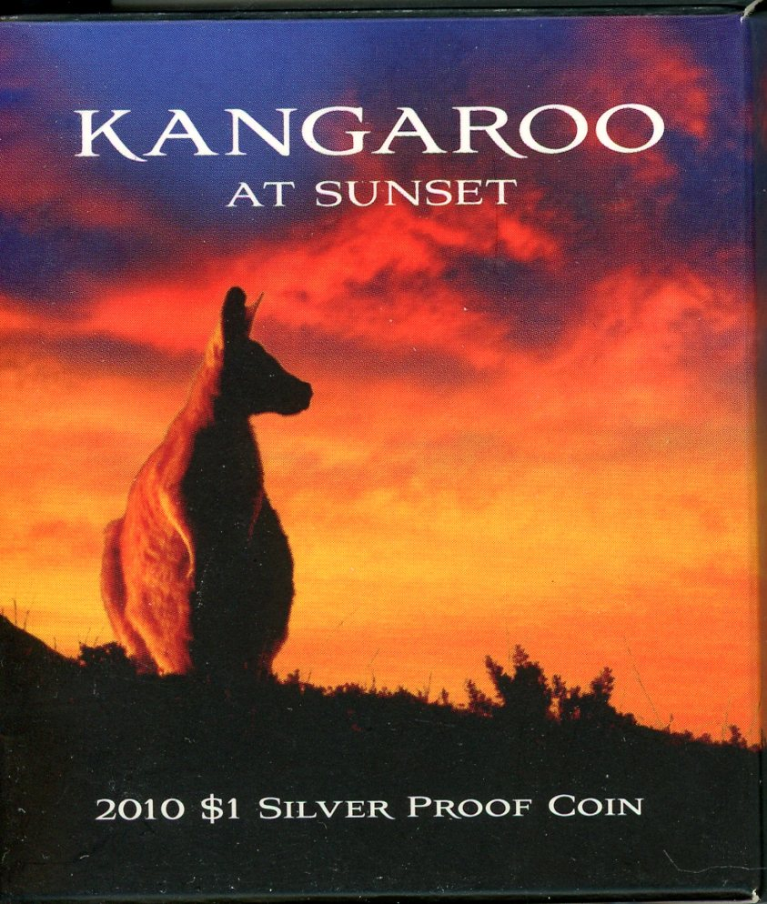 Thumbnail for 2010 $1 Silver Proof Coin - Kangaroo at Sunset