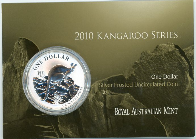 Thumbnail for 2010 1 Silver Frosted UNC Coin - Kangaroo Series