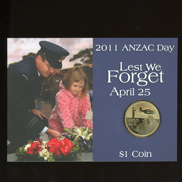 Thumbnail for 2011 Anzac Day Lest We Forget One Dollar Coin