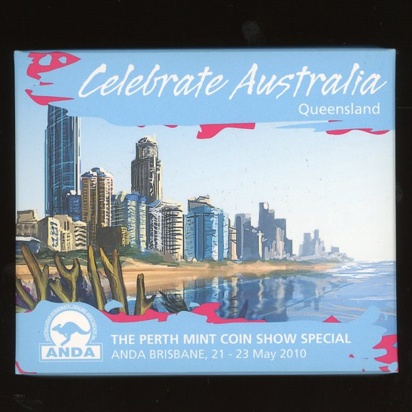 Thumbnail for 2010 Perth Mint Coin Show Special ANDA - Celebrate Australia Queensland