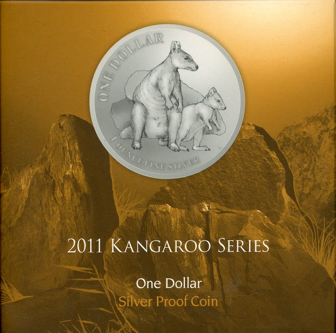 Thumbnail for 2011 $1 Silver Proof Coin Kangaroo Series - Allied Rock Wallaby