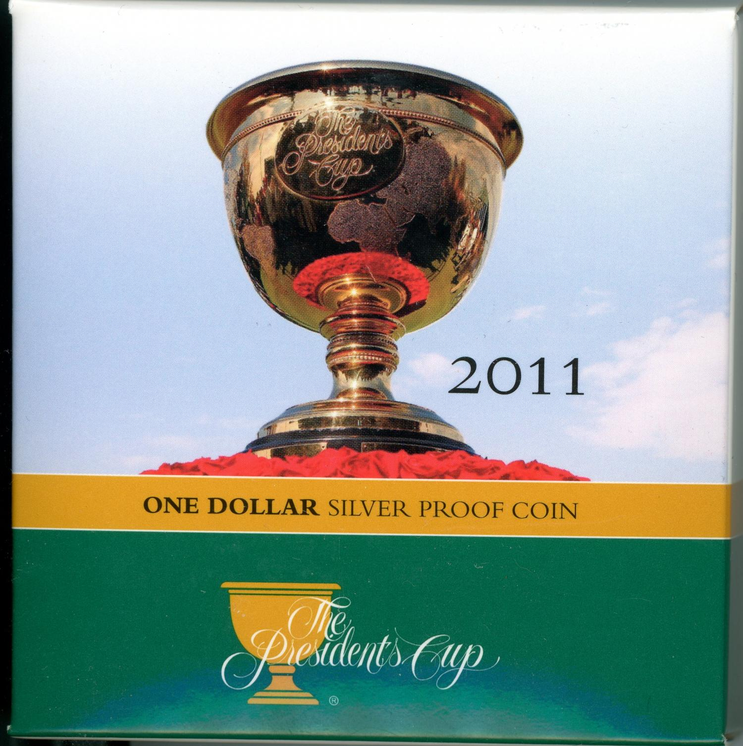 Thumbnail for 2011 Presidents Cup Silver Proof Dollar