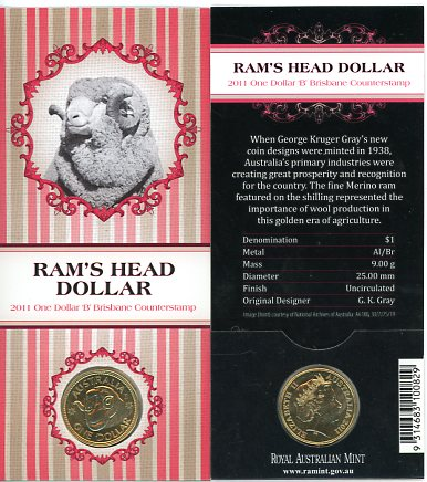 Thumbnail for 2011 Rams Head Dollar B Counterstamp