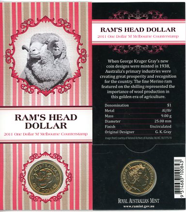 Thumbnail for 2011 Rams Head Dollar M Counterstamp