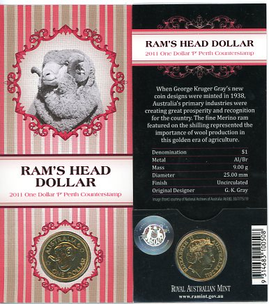 Thumbnail for 2011 Rams Head Dollar P Counterstamp