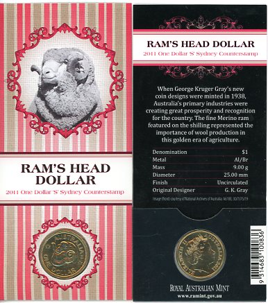 Thumbnail for 2011 Rams Head Dollar S Counterstamp