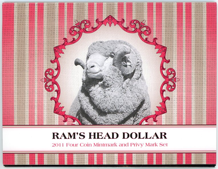 Thumbnail for 2011 Rams Head Dollar - 4 Coin Set CBMS