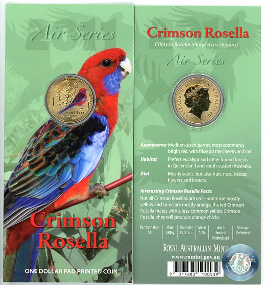 Thumbnail for 2011 $1 Coin Air Series - Crimson Rosella