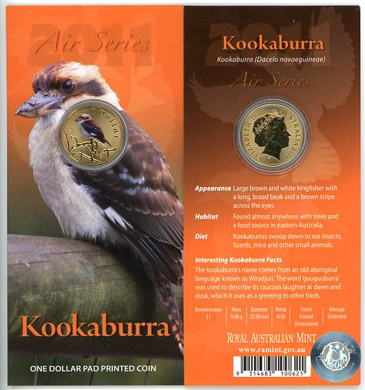 Thumbnail for 2011 $1 Coin Air Series - Kookaburra