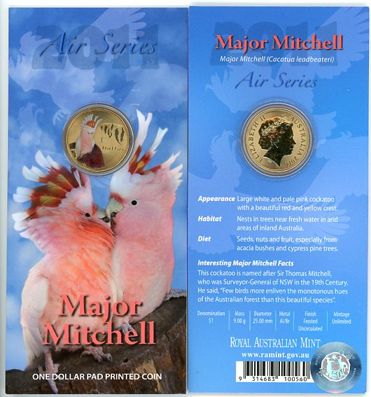 Thumbnail for 2011 $1 Coin Air Series - Major Mitchell