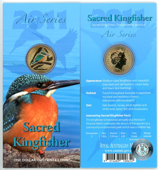 Thumbnail for 2011 $1 Coin Air Series - Sacred Kingfisher