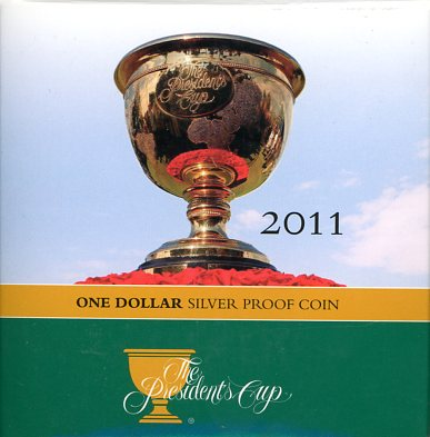 Thumbnail for 2011 $1 Fine Silver Proof Coin - The Presidents Cup