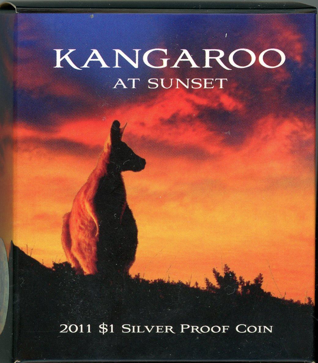 Thumbnail for 2011 $1 Silver Proof Coin - Kangaroo At Sunset