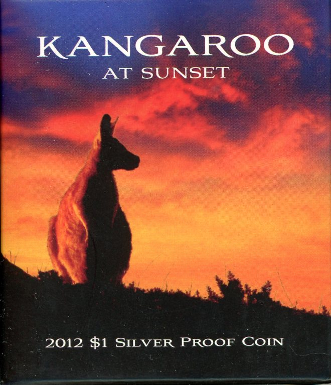 Thumbnail for 2012 $1 Silver Proof Coin - Kangaroo at Sunset
