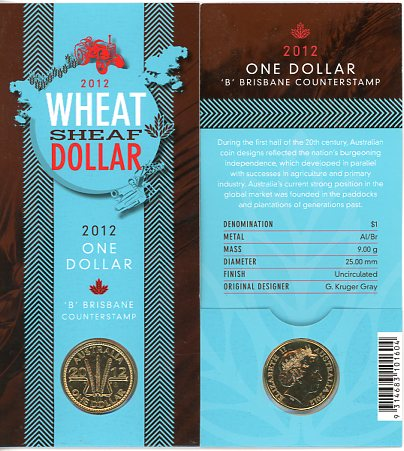 Thumbnail for 2012 Wheat Sheaf Dollar - B Counterstamp