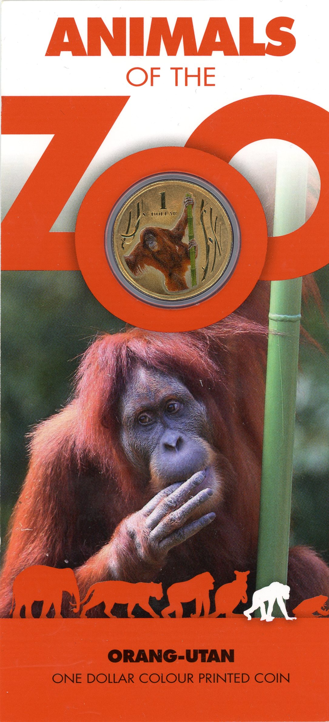 Thumbnail for 2012 Zoo Series - Orang-utan Coloured Dollar