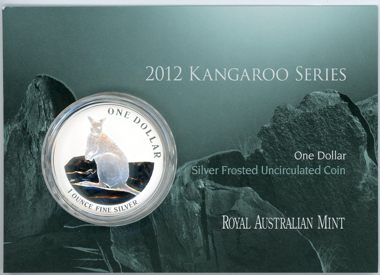 Thumbnail for 2012 $1 Kangaroo Series Silver Frosted Coin - Mareeba Rock Wallaby