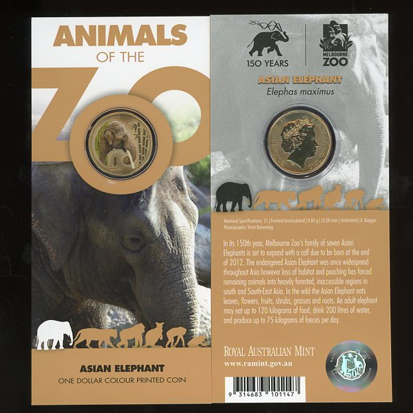Thumbnail for 2012 Zoo Series - Asian Elephant