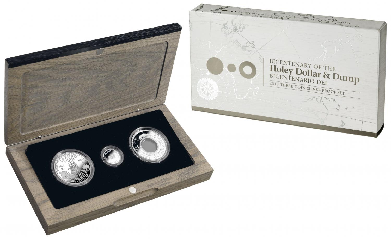 Thumbnail for 2013 Bicentenary of the Holey Dollar & Dump 3 Coin Silver Proof Set