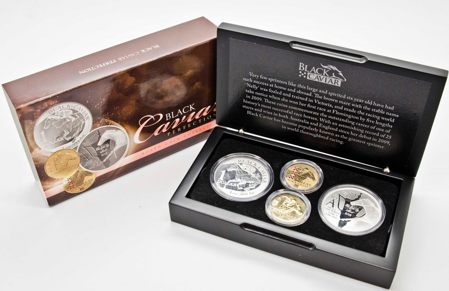 Thumbnail for 2013 Black Caviar One Dollar Four Coin Silver Proof Set