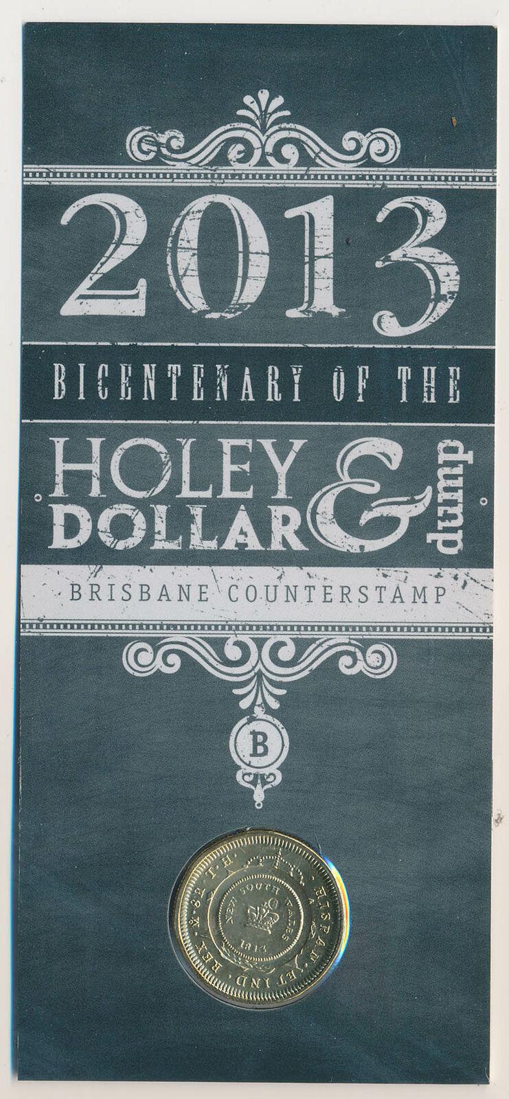 Thumbnail for 2013 Holey Dollar & Dump Bicentenary - Brisbane Counterstamp