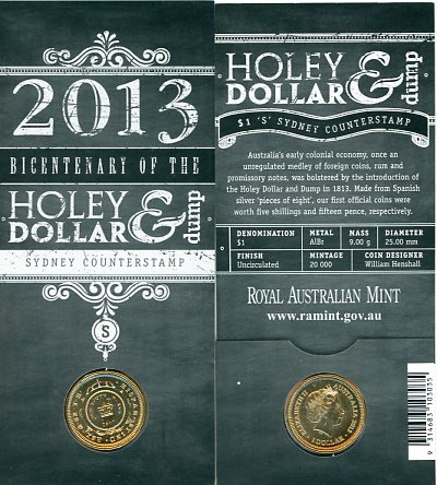 Thumbnail for 2013 Holey Dollar & Dump Bicentenary - S Counterstamp