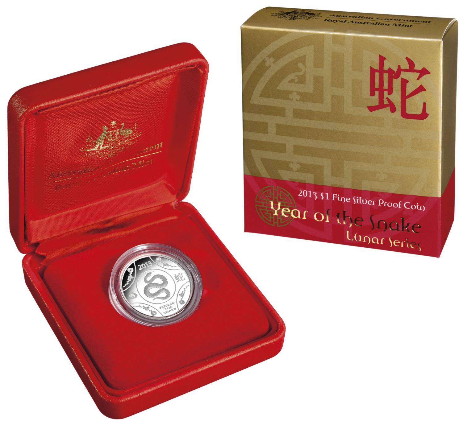 Thumbnail for 2013 Lunar Series - Year of the Snake $1 Silver Proof Coin